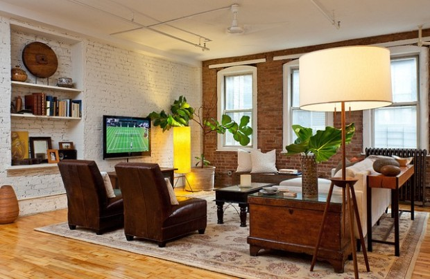 21 Cozy Living Rooms with Brick Walls