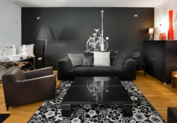 Mysterious, Dark, Dramatic - 20 Exquisite Black Wall Living Room Ideas - walls, wall, living rooms, Living room, home design, black walls, black wall, Black
