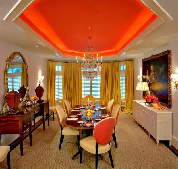 Dining Room Ceilings: 20 Amazing Dining Room Design Ideas With Tray Ceiling
