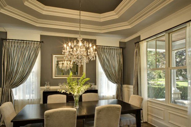 9 Stylish Tray Ceiling Ideas For Different Rooms: 20 Amazing Dining Room Design Ideas With Tray Ceiling