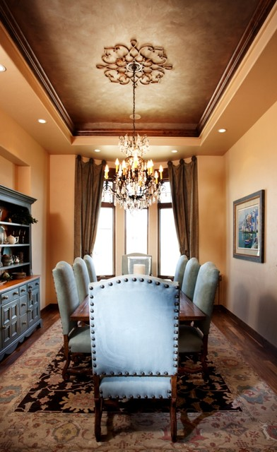 20 amazing dining room design ideas with tray ceiling for Traditional dining room color ideas