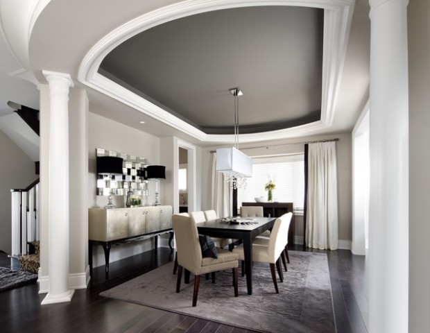 20 Amazing Dining Room Design Ideas with Tray Ceiling