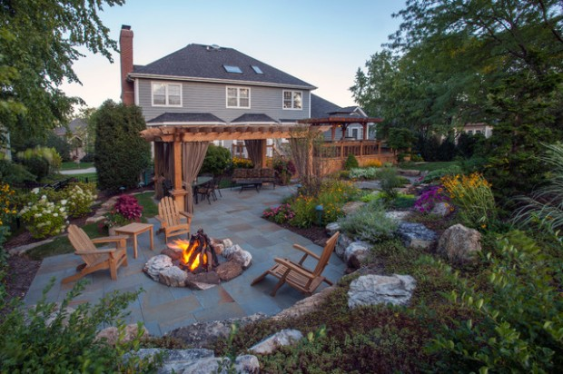 20 landscaping backyard fire pit design ideas - Fire Pit Design Ideas
