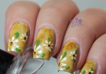 Collection of 18 Beautiful Floral Nail Art Ideas - nail designs, Nail Art, flower nails, floral nail art