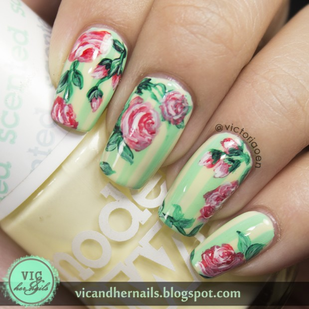Collection of 18 Beautiful Floral Nail Art Ideas
