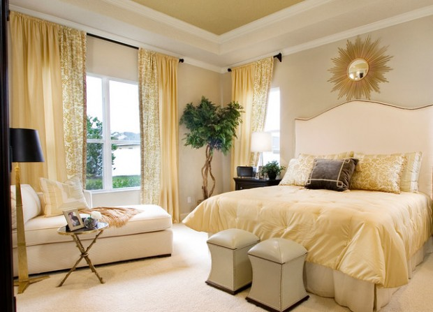 Golden Tone Details for Extravagant Bedroom Look  18 Great Design Ideas