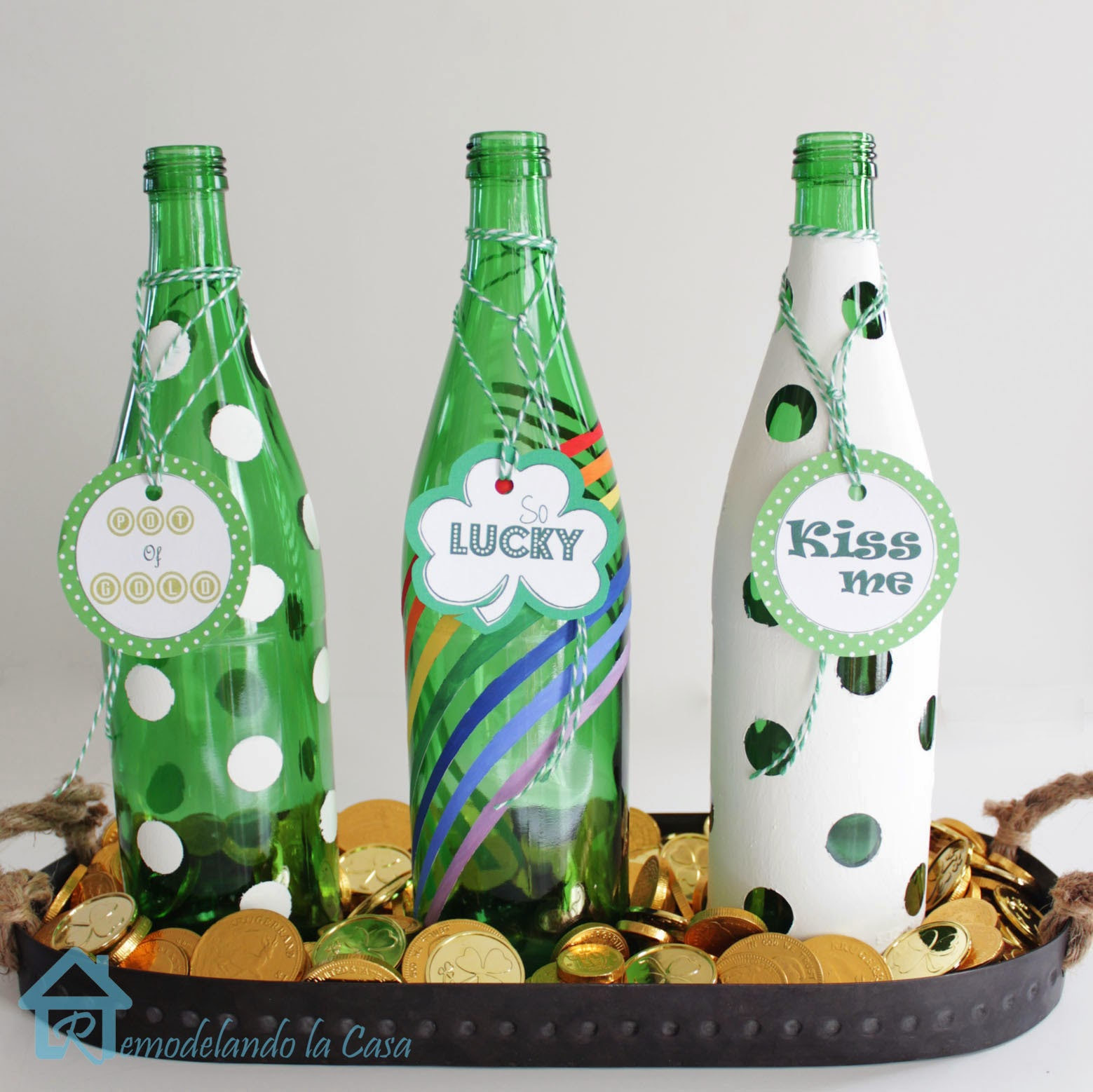 St patrick decoration ideas 17 great diy projects to for Plastic bottles decoration pieces