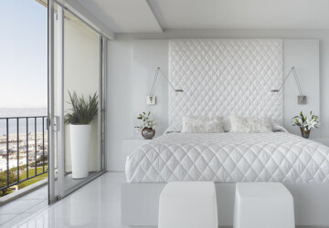 17 Elegant White Bedroom Design Ideas - white interior, white bedroom, bedroom design ideas, bedroom design