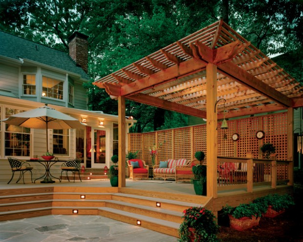20 Deck Pergola Design Ideas for Enhanced Beauty of Your Outdoor ...
