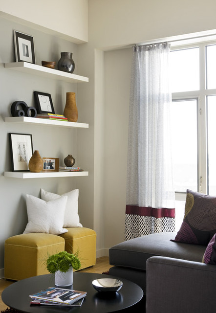 How to decorate your living room with floating shelves 18 design ideas style motivation Shelf decorating ideas living room