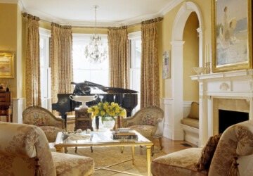 18 Extravagant Living Rooms with Golden Tone Details  - luxurious living room, Luxurious, Living room, home design, gold, chich living room