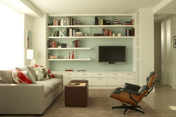 Genial How To Decorate Your Living Room With Floating Shelves 18 Design Ideas