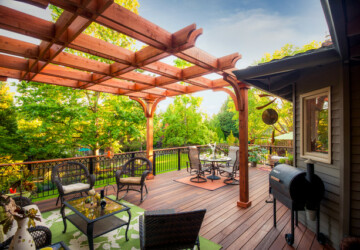 20 Deck Pergola Design Ideas for Enhanced Beauty of Your Outdoor area - Pergola, outdoors, outdoor, landscape, design ideas, design, deck pergola desing, deck pergola, deck, backyard