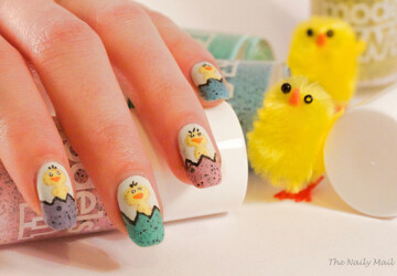 16 Fantastic Ideas How to Beautify Your Nails for Easter - nail art ideas, holiday nail art, easter nails, Easter