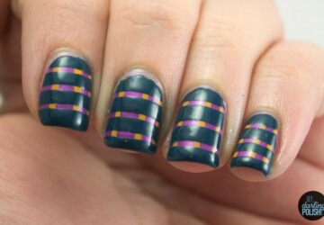 20 Adorable and Creative Nail Art Ideas with Stripes - stripes nail art, Stripes, Statement Stripes, nail designs, nail art ideas