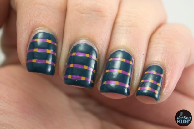 20 Adorable and Creative Nail Art Ideas with Stripes