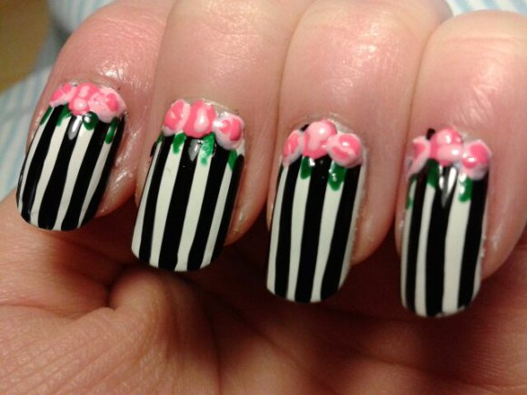 Nail-Art-Ideas-with-Stripes-26-Adorable-and-Creative-Nail-Designs-24