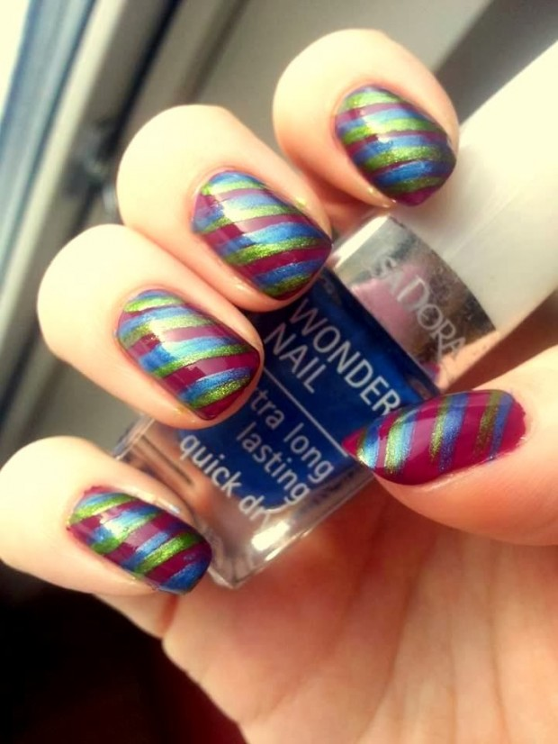 Nail-Art-Ideas-with-Stripes-26-Adorable-and-Creative-Nail-Designs-5