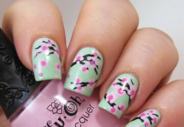 Spring Nails- 17 Beautiful Floral Nail Art Ideas - spring nails, spring nail art, nail art ideas, floral nail art