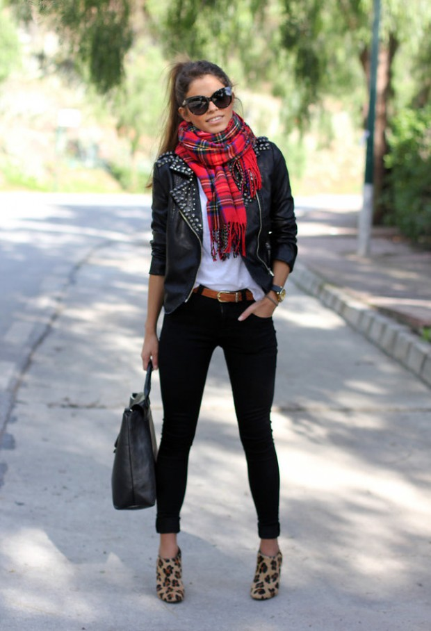 How To Style Your Favorite Black Leather Jacket- 17 Inspiring Outfit Ideas - Style Motivation