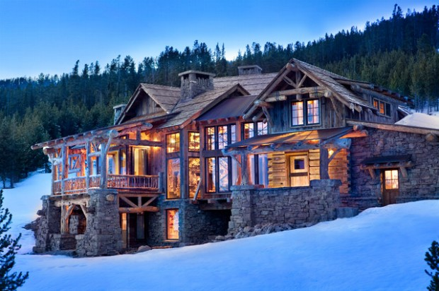 17 rustic mountain house exterior design ideas style for Architectural design mountain home