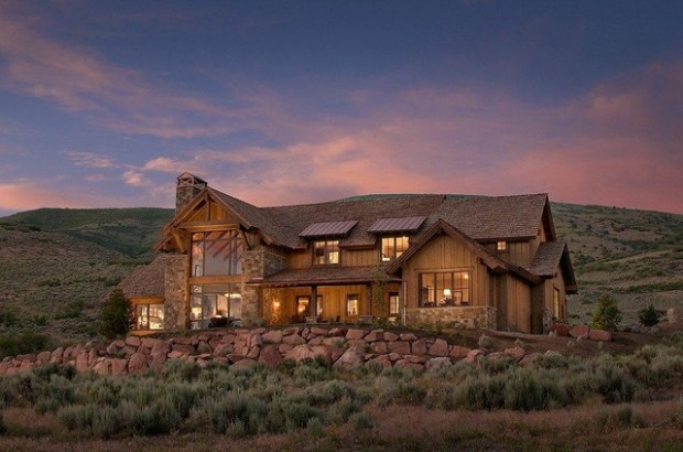 17 Rustic Mountain House Exterior Design Ideas