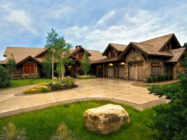 17 rustic mountain house exterior design ideas - Rustic Mountain Home Designs