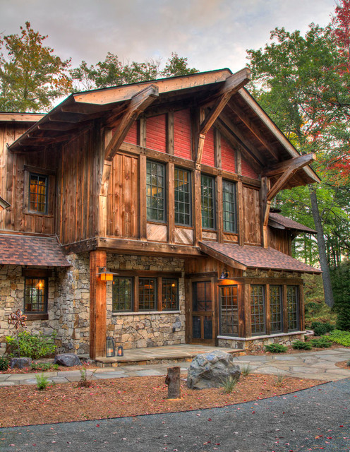 17 rustic mountain house exterior design ideas style for Rustic home builders