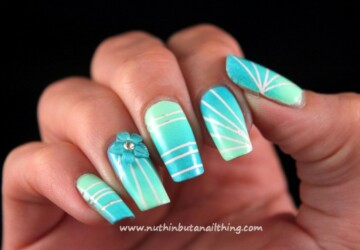 17 Gorgeous Nail Art Ideas Created with Scotch Tape - Scotch Tape nail art, Scotch Tape, nail desins, nail art ideas, easy nail art