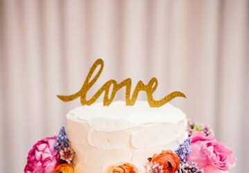 15 Amazing Wedding Cakes Decorated with Flowers - wedding flower, wedding cake decoration, Wedding Cake, flowers, floral wedding decor, floral wedding cake