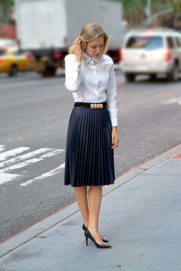 16 Stylish Pleated Skirt Outfit Ideas