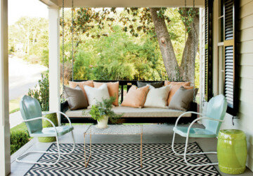 20 Cozy Porch Swings for Relaxed Sunny Days - swing, porch swing, Porch, outdoor, cozy porch