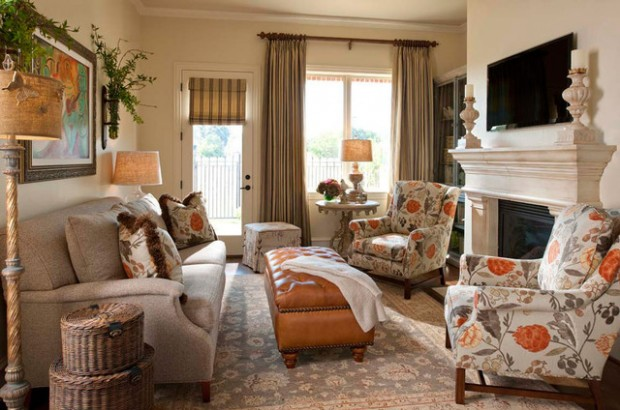 Floral Fabrics   Bring a Touch of The Outdoors into Your Living Room
