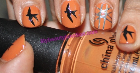 Bourjois-nail-art-kit-review-bird-nail-art-desert-sun-china-glaze-polish (9)