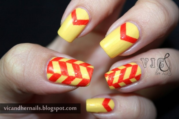 Chevrons-Nail-Designs-in-18-Beautiful-and-Elegant-Ideas-11-890x592