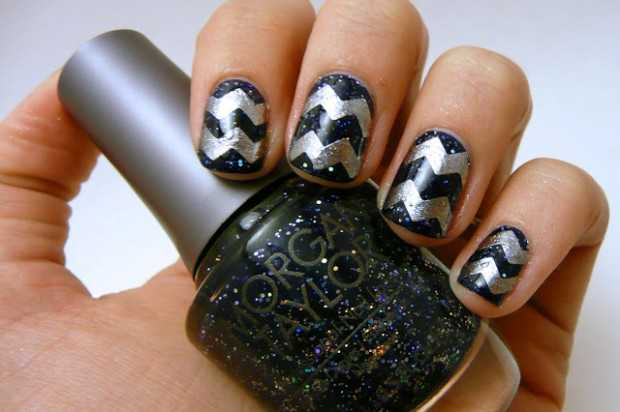 Chevron Nail Designs in 18 Beautiful and Elegant Ideas