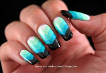 Chevron Nail Designs in 18 Beautiful and Elegant Ideas - nail designs, nail art ideas, Chevron Nail Designs