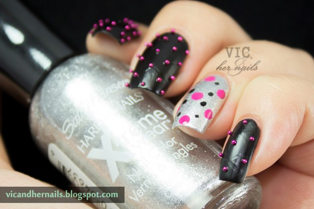 GOT-black-silver-caviar-nail-art-ls