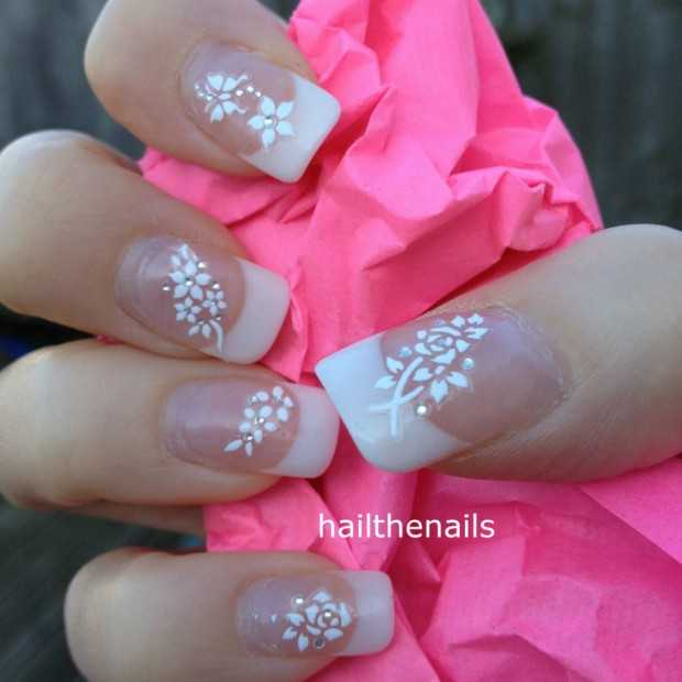 Wedding Nail Art Designs Gallery: Romantic Wedding Nail Designs