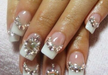 Romantic Wedding Nail Designs – 18 Elegant Nail Art Ideas for Brides - romantic nail art, nail art ideas, bridal nails