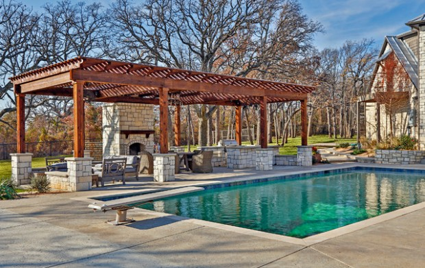 Pergola By The Pool 20 Landscaping Design Ideas