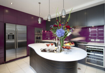 15 Modern Purple Kitchen Design Ideas - purple kitchen design, purple interior decor, purple, kitchen design