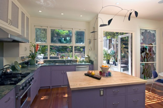 15 Modern Purple Kitchen Design Ideas