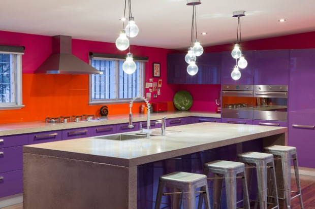 Kitchen Ideas Purple 15 modern purple kitchen design ideas - style motivation