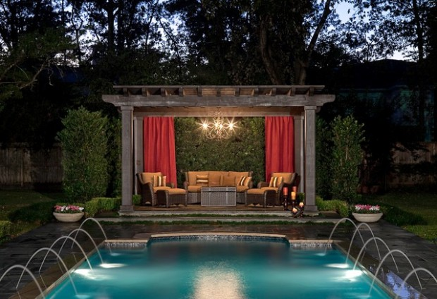 Pergola by the Pool:  20 Landscaping Design Ideas
