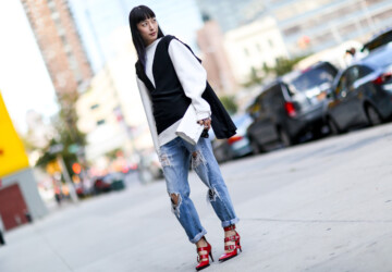 18 Stylish Ways to Wear Baggy Jeans - Street style, jeans outfit ideas, how to wear, boyfriend jeans, baggy jeans