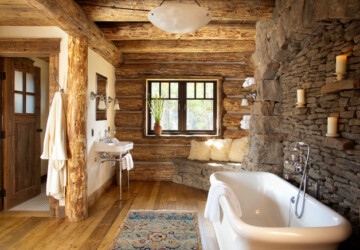 18 Ideas For Perfect Rustic Bathroom Design - rustic bathroom, rustic, home design, home, bathroom