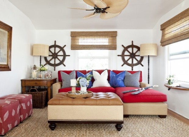 Create Your Own Paradise: 18 Nautical Living Room Ideas - Style ...