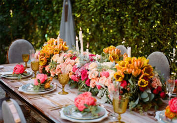 16 Floral Table Decorations For Perfect Summer Wedding - wedding decoration, wedding, table decorations, table decoration, table decor, table, summer, floral wedding decor