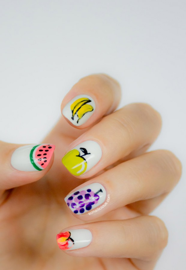 Cute-Fruit-Nails-for-Spring-and-Summer-18-Adorable-Nail-Art-Ideas-14